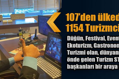 107'den ülkeden 1154 Turizmci