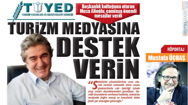 Başkanlık koltuğuna oturan Musa Alioğlu, camiaya önemli mesajlar verdi