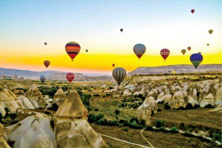 Güneşin doğuşunda Kapadokya