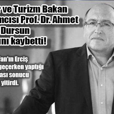 Kültür ve Turizm Bakan Yardımcısı Prof. Dr. Ahmet Haluk Dursun hayatını kaybetti!