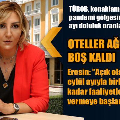 OTELLER AĞUSTOS'TA DA BOŞ KALDI