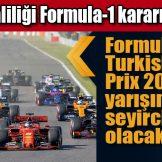 İstanbul Valiliği Formula-1 kararını açıkladı