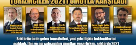 TURİZMCİLER 2021'İ UMUTLA KARŞILADI