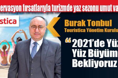 Touristica yurt içi tatil satışlarında yüzde 100 büyümeye koşuyor