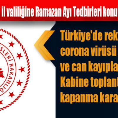 İçişleri Bakanlığı 81 il valiliğine Ramazan Ayı Tedbirleri konulu genelge gönderdi