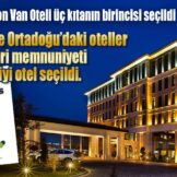 DoubleTree By Hilton Van Oteli üç kıtanın birincisi seçildi