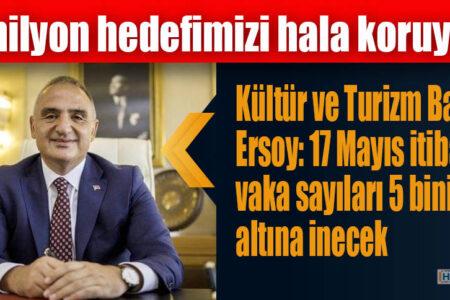 Kültür ve Turizm Bakanı Ersoy: 17 Mayıs itibarıyla vaka sayıları 5 binin altına inecek