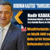 """DEDEMAN KALİTESİ """"TRAVELERS' CHOICE"""" İLE TAÇLANDI"""