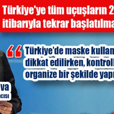 Rusya, Türkiye'ye uçuşları yeniden başlatıyor