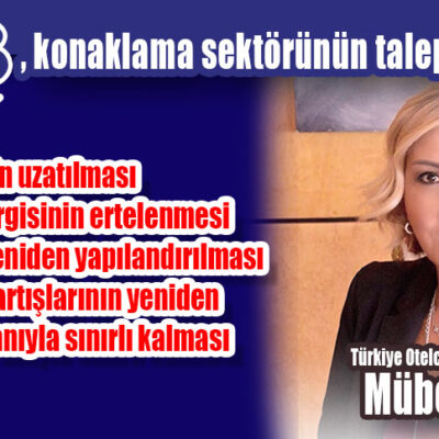 TÜROB, konaklama sektörünün taleplerini açıkladı